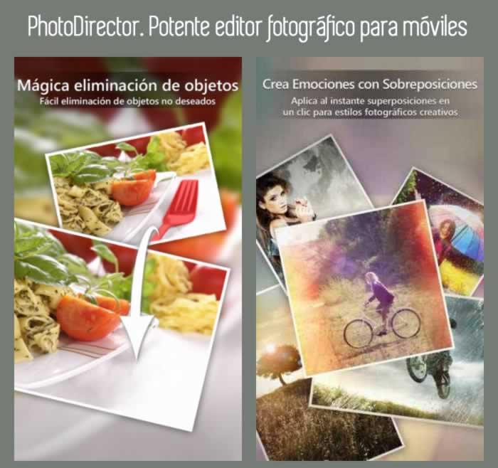 PhotoDirector. Potente editor fotográfico para móviles
