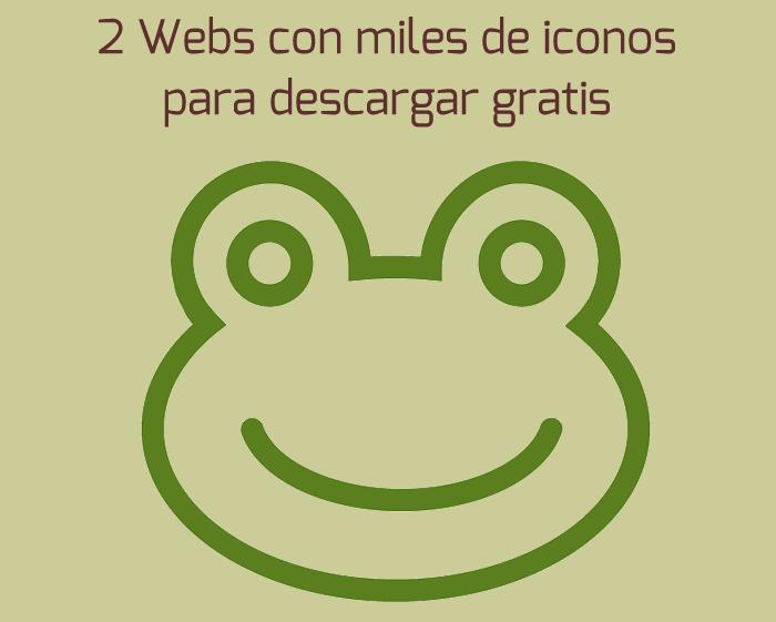 2 Webs con miles de iconos para descargar gratis