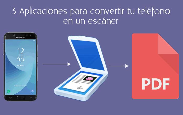 3 Aplicaciones para convertir tu teléfono en un escáner
