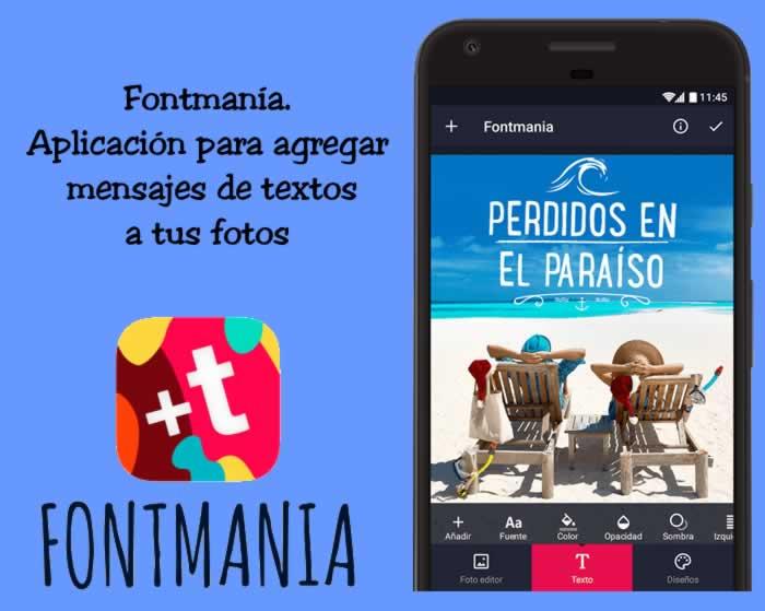 Aplicación para agregar mensajes de textos a tus fotos