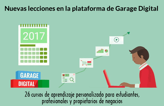 Nuevas lecciones de marketing digital en la plataforma de Garage Digital