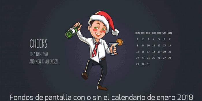 16 Fondos multipantalla con o sin el calendario de enero 2018