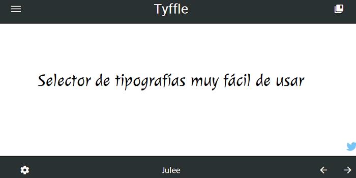 Tyffle. Selector de tipografías muy fácil de usar