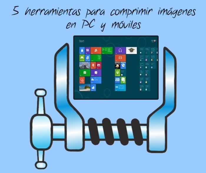 5 herramientas para comprimir imágenes online y en móviles