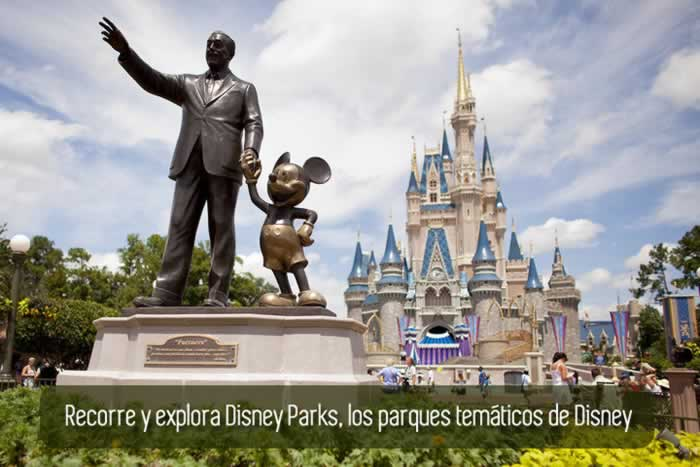 Recorre y explora Disney Parks, los parques temáticos de Disney
