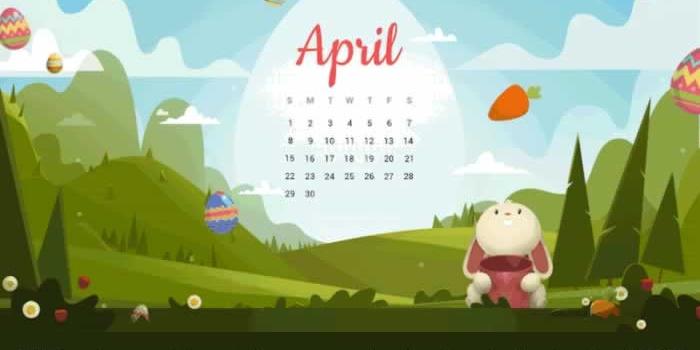 27 Fondos multipantalla con o sin el calendario de abril 2018