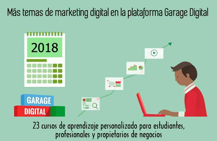 Más temas de marketing digital en la plataforma Garage Digital