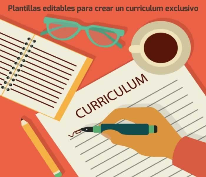 Plantillas editables para crear un curriculum exclusivo gratis