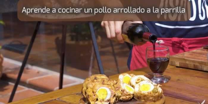 Aprende a cocinar un pollo arrollado a la parrilla