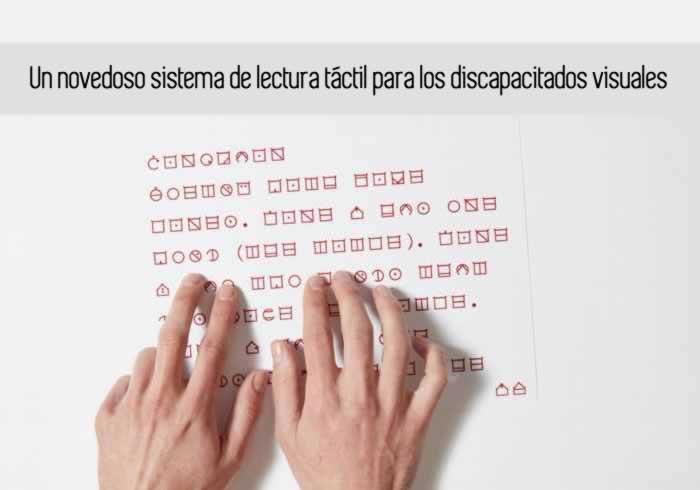 Un novedoso sistema de lectura táctil para los discapacitados visuales