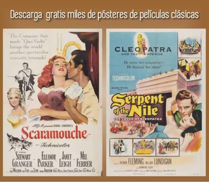 Descarga gratis miles de pósteres de películas clásicas