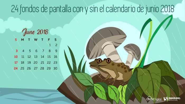 24 Fondos multipantalla con y sin el calendario de junio 2018