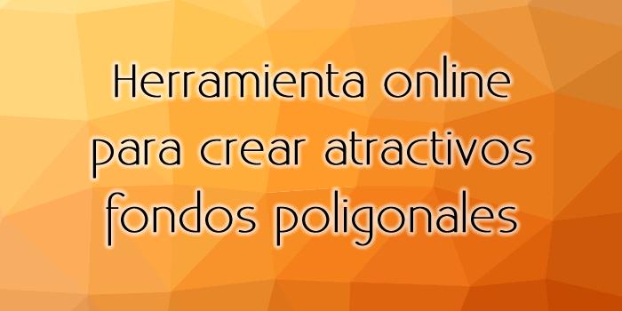 Herramienta online para crear atractivos fondos poligonales