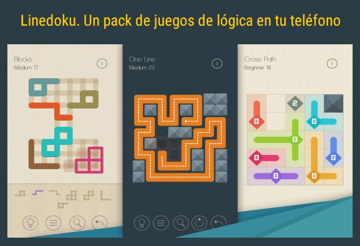 Linedoku. Un pack de juegos de lógica en tu teléfono