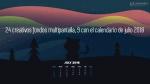 24 creativos fondos multipantalla, 9 con el calendario de julio 2018