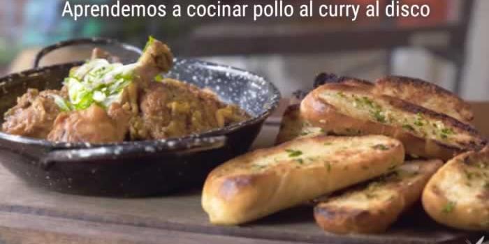 Aprendemos a cocinar pollo al curry al disco
