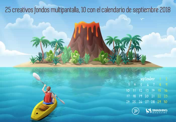25 creativos fondos multipantalla, 10 con el calendario de septiembre 2018