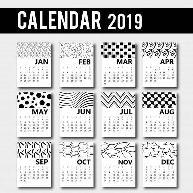Calendario En Blanco.10 Calendarios 2019 Editables Listos Para Descargar E Imprimir