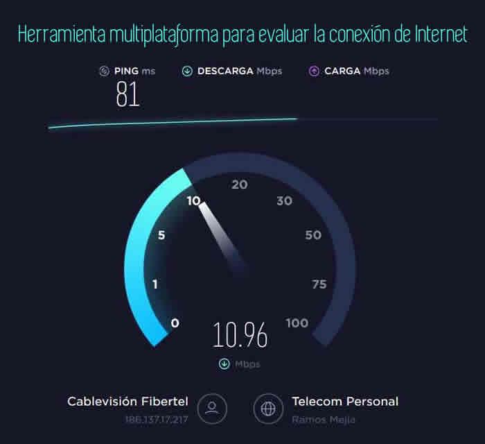 Herramienta multiplataforma para evaluar la conexión de Internet