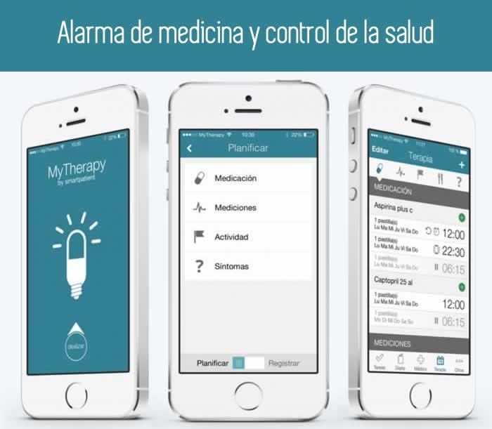 Alarma de medicamentos y control de la salud