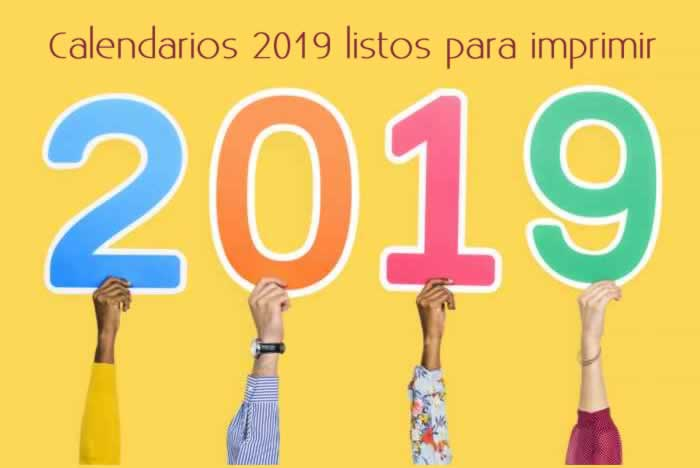 Calendario 2019 Para Imprimir Gratis.Calendarios 2019 Listos Para Imprimir Recursos Gratis En Internet
