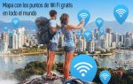 Mapa con los puntos de Wi Fi gratis en todo el mundo