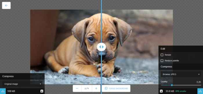 Herramienta on-line para optimizar, comprimir y convertir imágenes