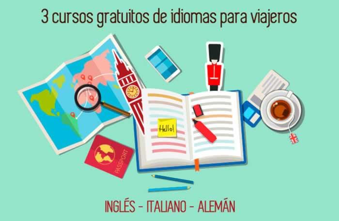 3 cursos gratuitos de idiomas para viajeros: inglés, italiano y alemán