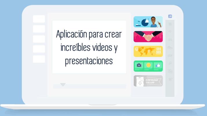 Aplicación para crear increíbles videos y presentaciones