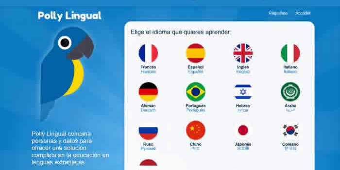 Polly Lingual. Web de educación en lenguas extranjeras