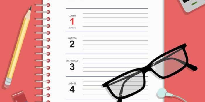 Plantilla gratuita para imprimir la agenda de escritorio 2019