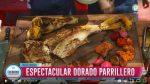 Aprende a cocinar un dorado a la parrilla con vegetales asados