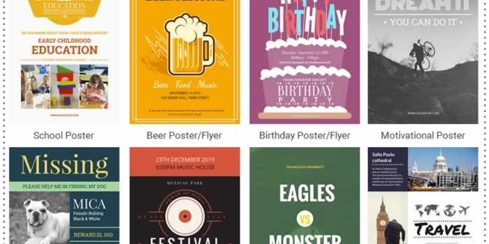 Potente herramienta gratuita para crear posters y flyers online