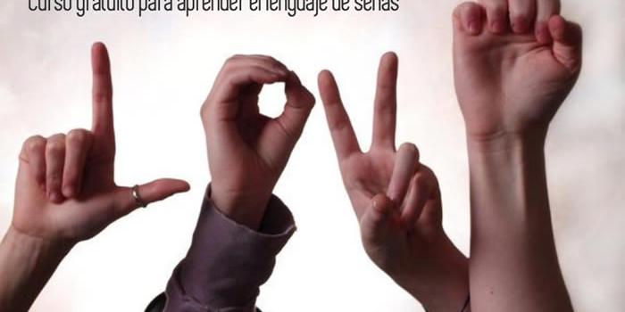 Curso gratuito para aprender el lenguaje de señas