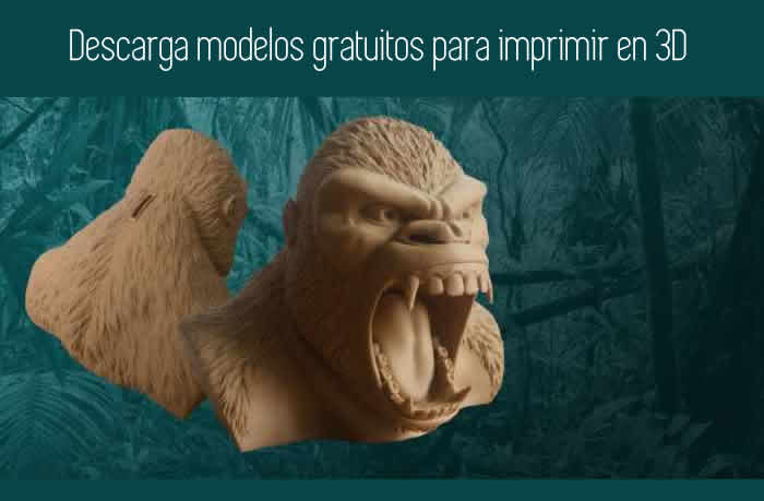 Descarga modelos gratuitos para imprimir en 3D