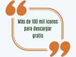 Más de 100 mil iconos para descargar gratis