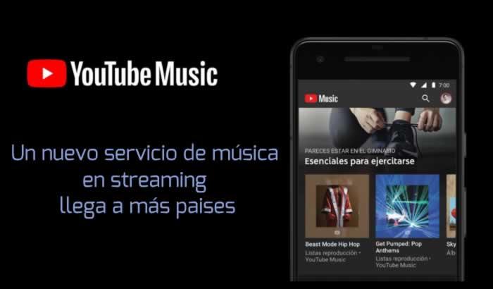 El nuevo servicio de música en streaming de Youtube llega a más países