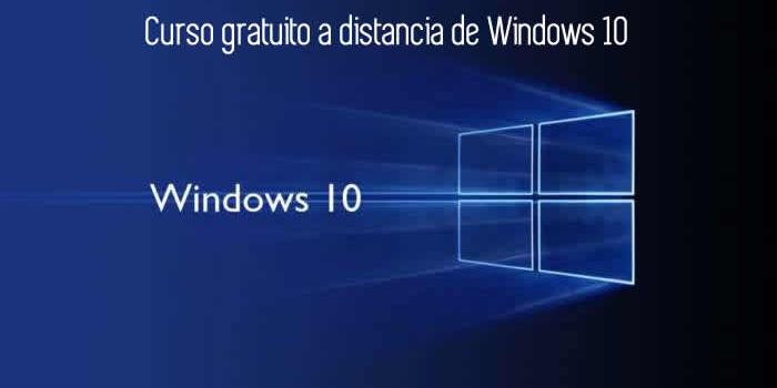 Curso de Windows 10 gratuito y a distancia