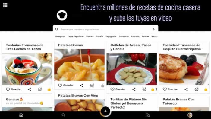 Encuentra millones de recetas de cocina casera y sube las tuyas en video