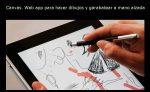 Canvas. Web app para hacer dibujos y garabatear a mano alzada