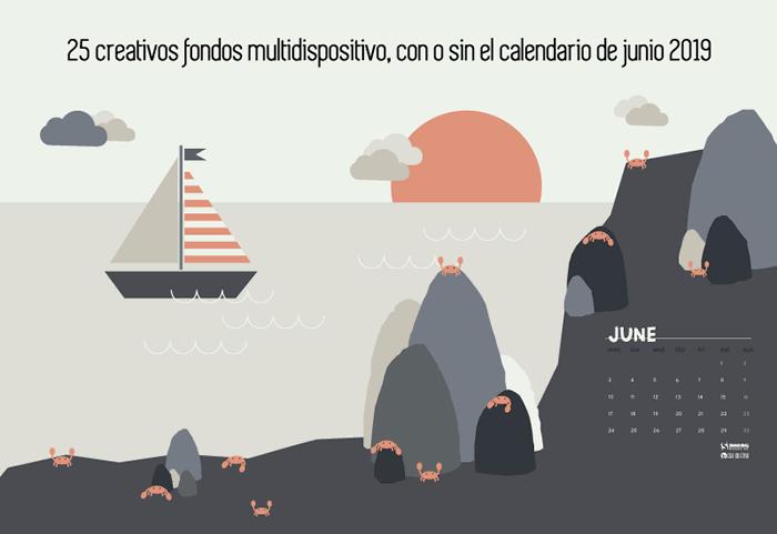 25 creativos fondos multidispositivo, con o sin el calendario de junio 2019