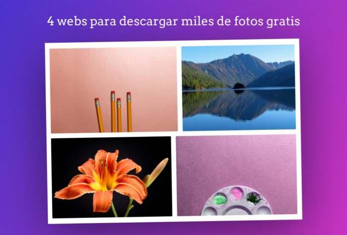 4 webs para descargar miles de fotos gratis