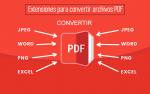 Extensiones para convertir archivos PDF