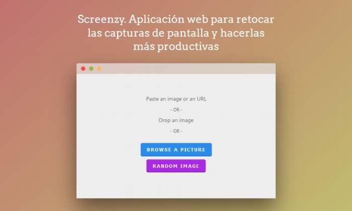 Screenzy. Aplicación web para retocar las capturas de pantalla y hacerlas más productivas