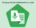 Una app que transcribe instantáneamente voz y sonido