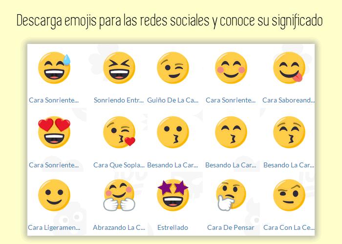 Descarga emojis para las redes sociales y conoce su significado