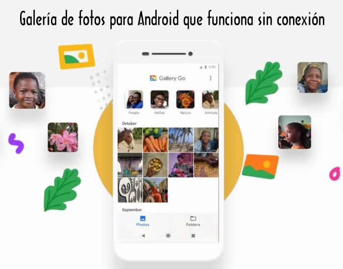 Galería de fotos para Android que funciona sin conexión