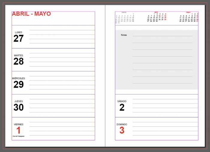 Agenda 2017 Gratis Pdf Para Imprimir Diarios De Leitura