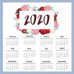 Nuevos calendarios 2020 editables para descargar e imprimir