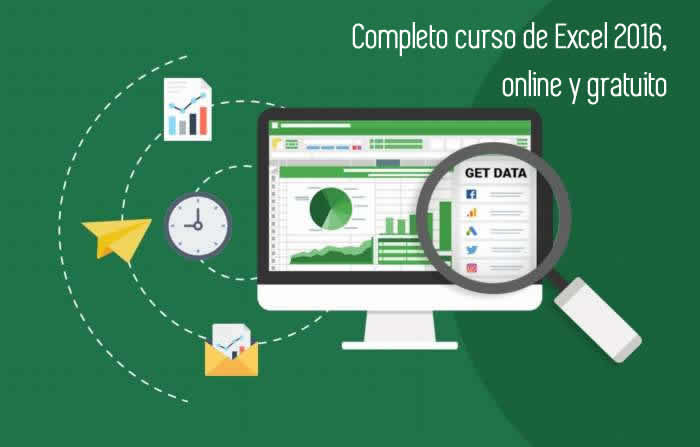 Completo curso de Excel 2016, online y gratuito